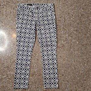 NWT J.CREW Geometric Print Toothpick Jeans